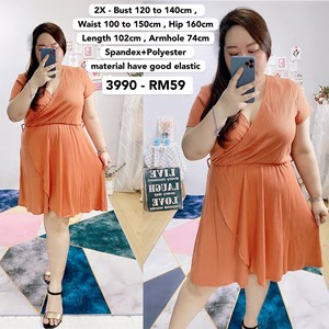3990 *Ready Stock *Bust 47 to 55 inch /120-140cm