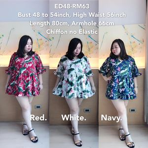 ED48 *Ready Stock *Bust 48 to 54inch/ 120-137cm