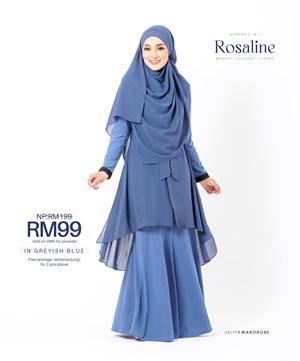 KURUNG ROSALINE IN GREYISH BLUE