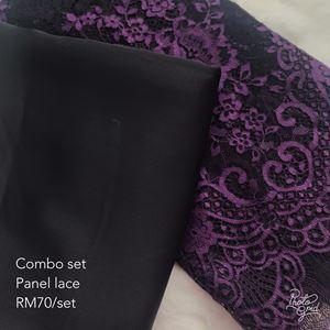 Combo set panel lace