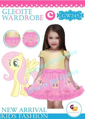 @  GW 245 DRESS  { C ~ PONY YELLOW }  ( SZ 2Y - 13Y )