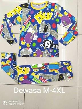 Pyjamas  DIDI AND FRIENDS with POLKA : Size DEWASA M- 4XL