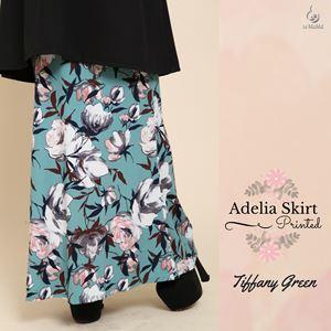 Adelia Skirt Printed : Tiffany Green