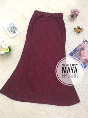 Skirt Lacey Maya Maroon