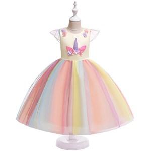UNICORN PRINCESS DRESS ( YELLOW )  SIZE 100-150