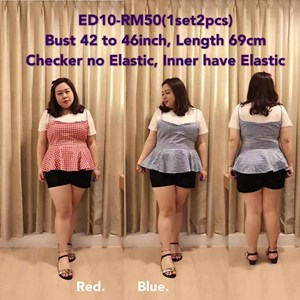 ED10 Ready Stock*Bust 42 to 46inch /101- 116cm