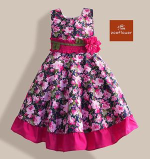 @  WS-ZF201524-003 ZOE FLOWER DRESS ( Size 6-10y )