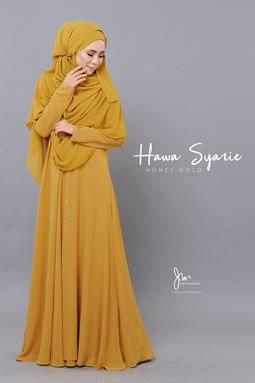 JUBAH HAWA SYARIE (HONEY GOLD)