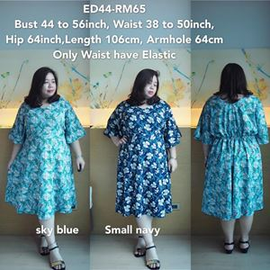 ED44 Ready Stock Small Floral *Bust 44 to 56inch/ 111-142cm