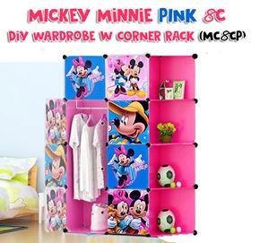 Mickey Minnie Pink 8C DIY Wardrobe w Corner Rack (MC8CP)
