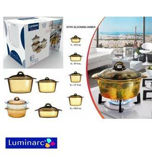 LUMINARC VITROFLAM AMBERLINE ROUND CASSEROLE WITH LID (1.5L / 2L / 3L)