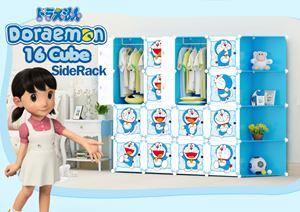 Doraemon Blue 16C DIY Cube w Corner Rack (DR16CB)
