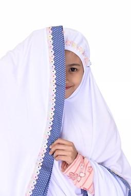 Telekung Jasmeen White