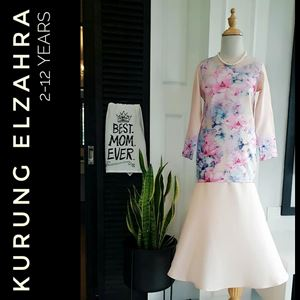 ELZAHRA MODERN KURUNG FOR KIDS ( BEIGE )