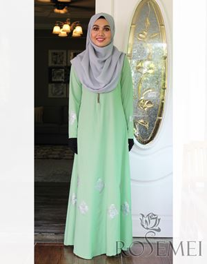 LE ANNE DRESS - SOFT GREEN