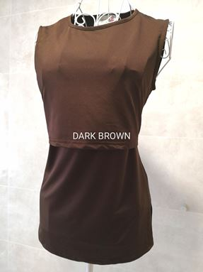*Milk Silk* Sleeveless Nursing Inner (DARK BROWN) Size Petite, Regular, Big