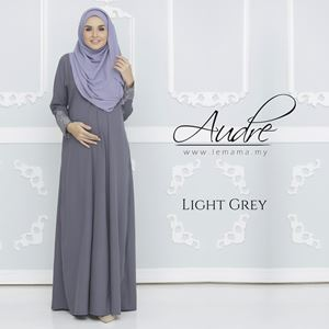 Audre Lacey Dress : Light Grey