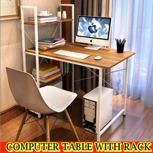 COMPUTER TABLE WITH RACK