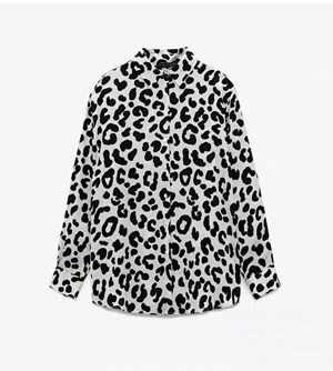 BLACK AND WHITE LEOPARD PRINTS TOP