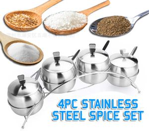4Pc Stainless Steel Spice Set
