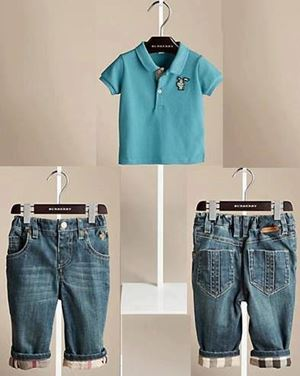 B014/13 BURBERRY LIGHT BLUE SET-2PCS SET
