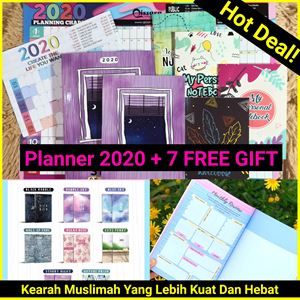 Planner Syabab 2020 + 7 EXTRA FREE GIFT ❤️❤️🌈
