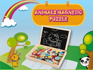ANIMALS / BUILDING MAGNETIC PUZZLE