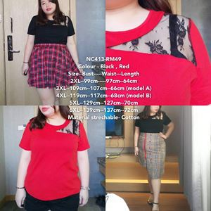 NC413 Ready Stock   *Bust 39 to 55 inch/ 99-139cm