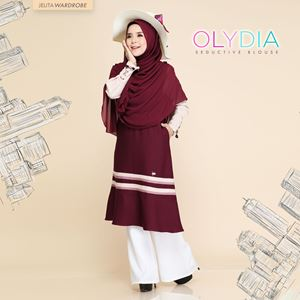 OLYDIA SEDUCTIVE BLOUSE (ROSE MAROON)