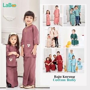 LaBoo Baju Kurung Cotton Ruby
