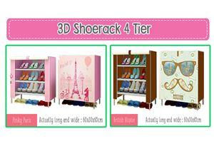 3D SHOERACK ( 4 Tier )
