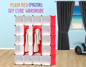 Plain Red 20C DIY Wardrobe  (PN20R)