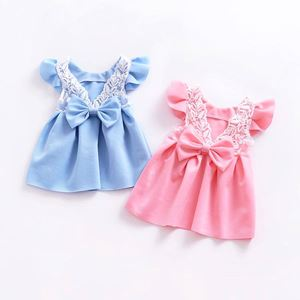 Baby Princess Dress : Lace Bow Backless