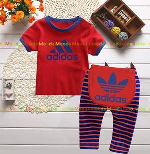 Baby Pyjamas - Red Adidas