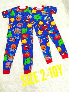 Pyjamas MINI AVENGERS : KIDS size 2 - 10