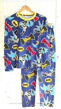 Pyjamas BATMAN ACTION BLUE : Size DEWASA XL-2XL (GL)