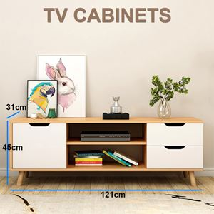 IV TV Cabinets  / 1 Doors 2 Drawer / Wooden