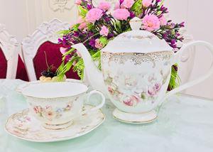 New Flower 2019  Ivory Rose Ravenna Dining Set ===>> 20pcs Tea Set (HY-RCR-20PCS-F48)
