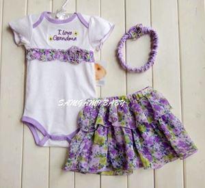 I Love Grandma - Romper + Tutu skirt