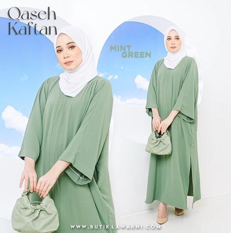 QASEH KAFTAN MINT GREEN