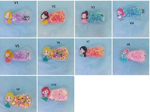 Disney Princess Quicksand Transparent Hair Clip