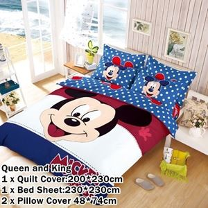 CARTOON BED SHEET MIKI 10 DESIGN (FITTED) King Size Bed (8 inch height) N00357 READY STOCK