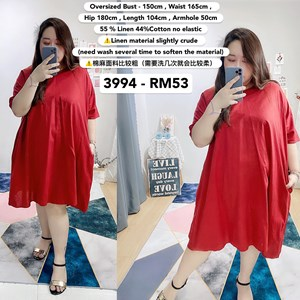 3994 *Ready Stock *Oversized Bust 150cm / 59 inch