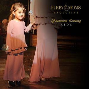 Yassmine Kurung Kids- Maroon