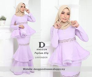 Peplum Lily Lavender