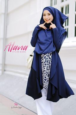 ALANA STYLISH BLOUSE MIDNIGHT BLUE