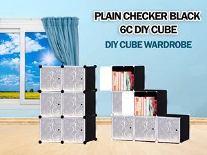Plain Black 6C DIY WARDROBE (PB6)
