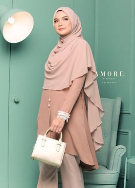 BLOUSE AMORE LACEY -  BROWNY