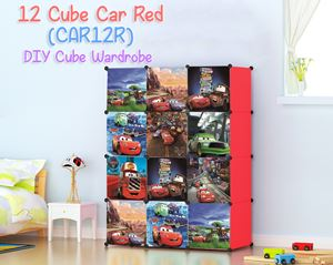 Car Red 12 Cube DIY Wardrobe (CAR12R)