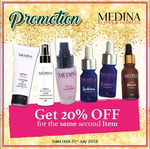 20% Off For The Same Second Item (Medina Perfect UV Sunblock 30g)